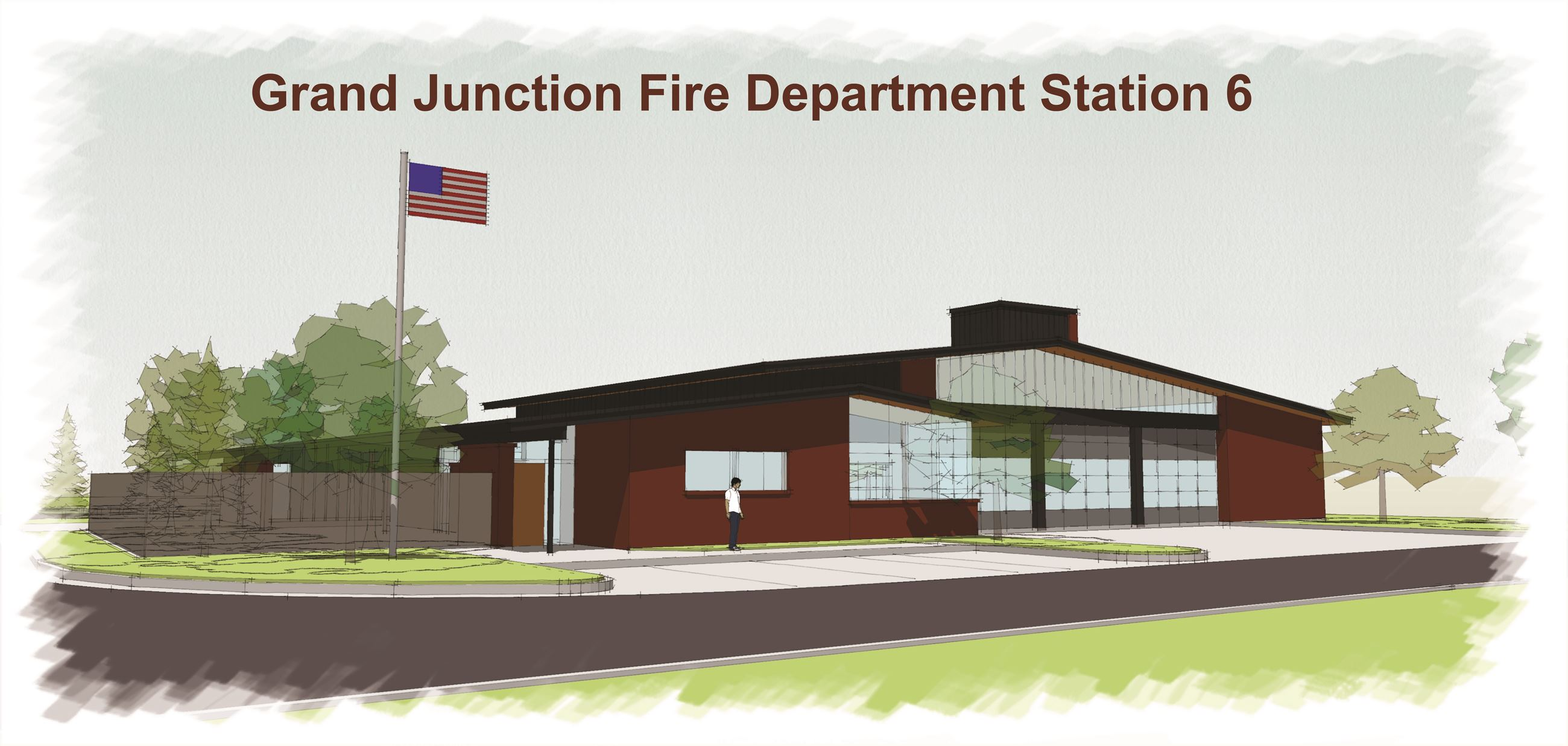 Grand Junction Fire Department Station 6 Drawing
